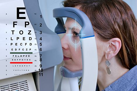Checking eyesight in a clinic of the future